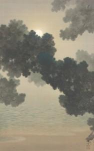 ⑨松に月(個人蔵)1
