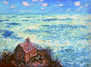 1)クロード・モネ「税関吏の小屋・荒れた海」