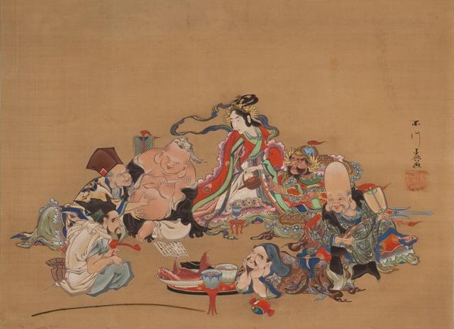 ⑪ 百川子興「七福神酒宴図」1