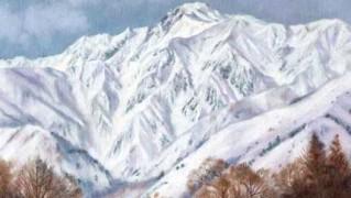 神田紀和個展「冬の五竜岳」F3号1