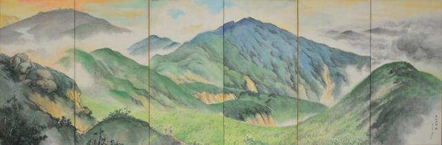 ①「白山夏景図屏風」登り1