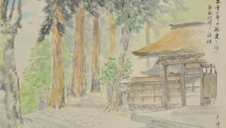 ③「二千年の歴史を持つ白山比咩神社」/画帖「鶴来の印象」1