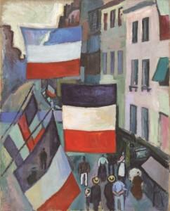 1906_ラウル・デュフィ「旗で飾られた通り」