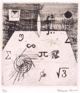 5.駒井哲郎《記号の静物》1951年_埼玉県立近代美術館蔵
