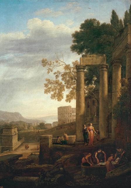 14.聖セラピアの埋葬のある風景1