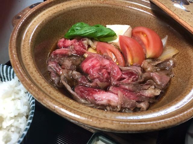 懐石 伊勢錦 大宮 さいたま トマトすき焼き
