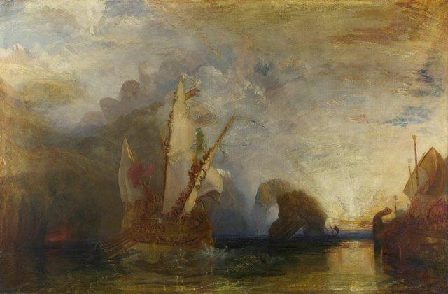 ジョゼフ・マロード・ウィリアム・ターナー  ポリュフェモスを嘲るオデュッセウス ロンドン・ナショナル・ギャラリー 国立西洋美術館
