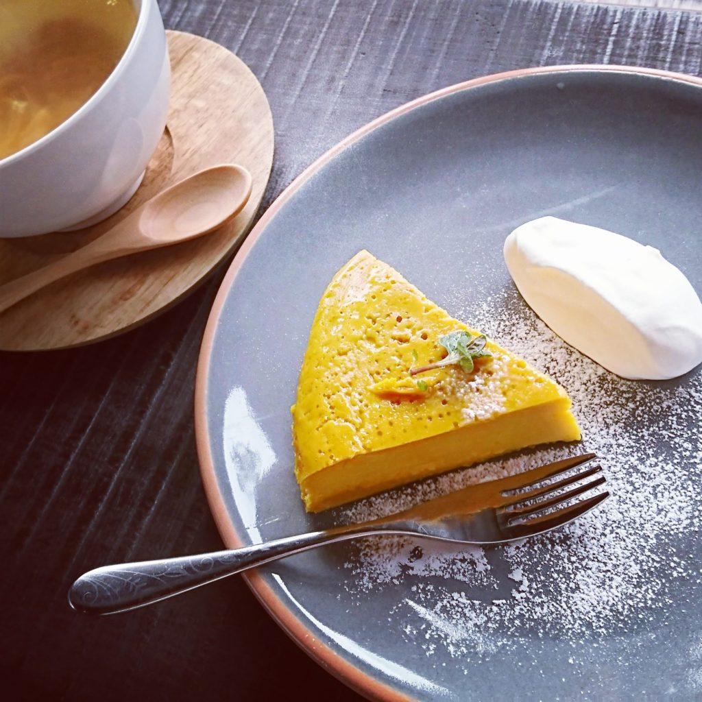 岩槻 古民家 カフェ niwasaki cafe いわさ喜 いわさき かぼちゃケーキ
