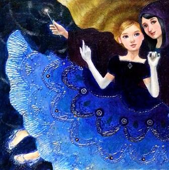 油彩・キャンバスS3号「Princess Series-シンデレラ-」1