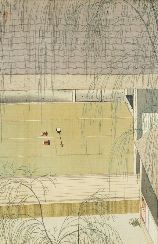 埼玉県立近代美術館 コレクション 4つの水紋 小村雪岱